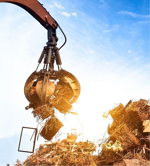 Транспортировка металла грейфером