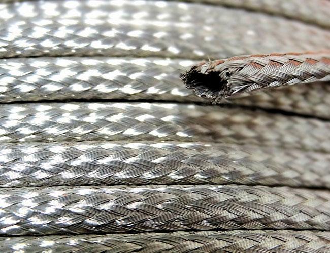 Медная оплетка, покрытая тонким слоем олова